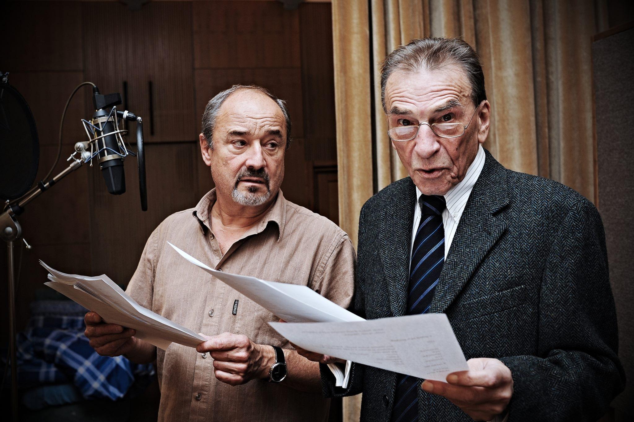 Viktor Preiss a František Němec při natáčení
