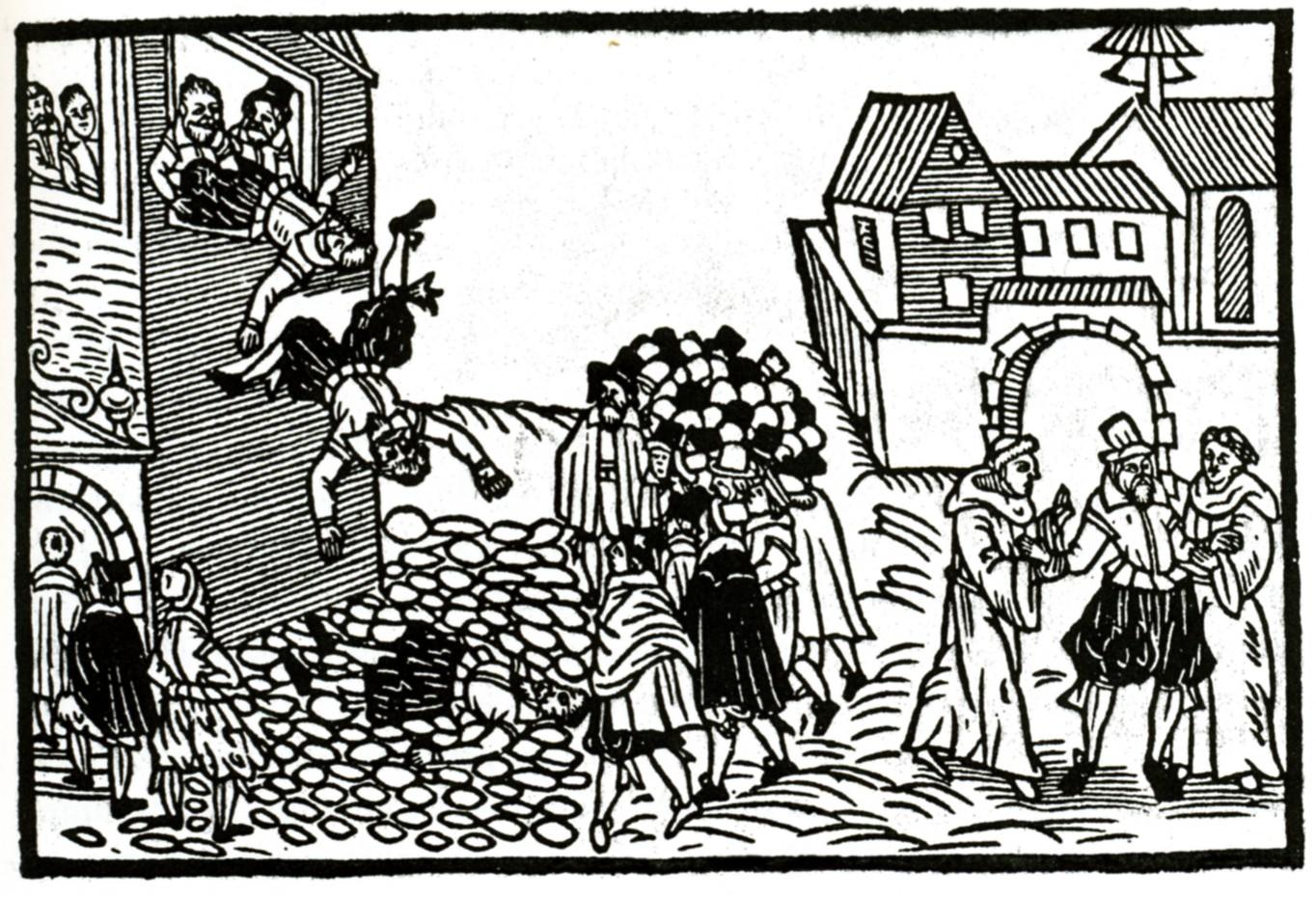 Pražská defenestrace v roce 1618