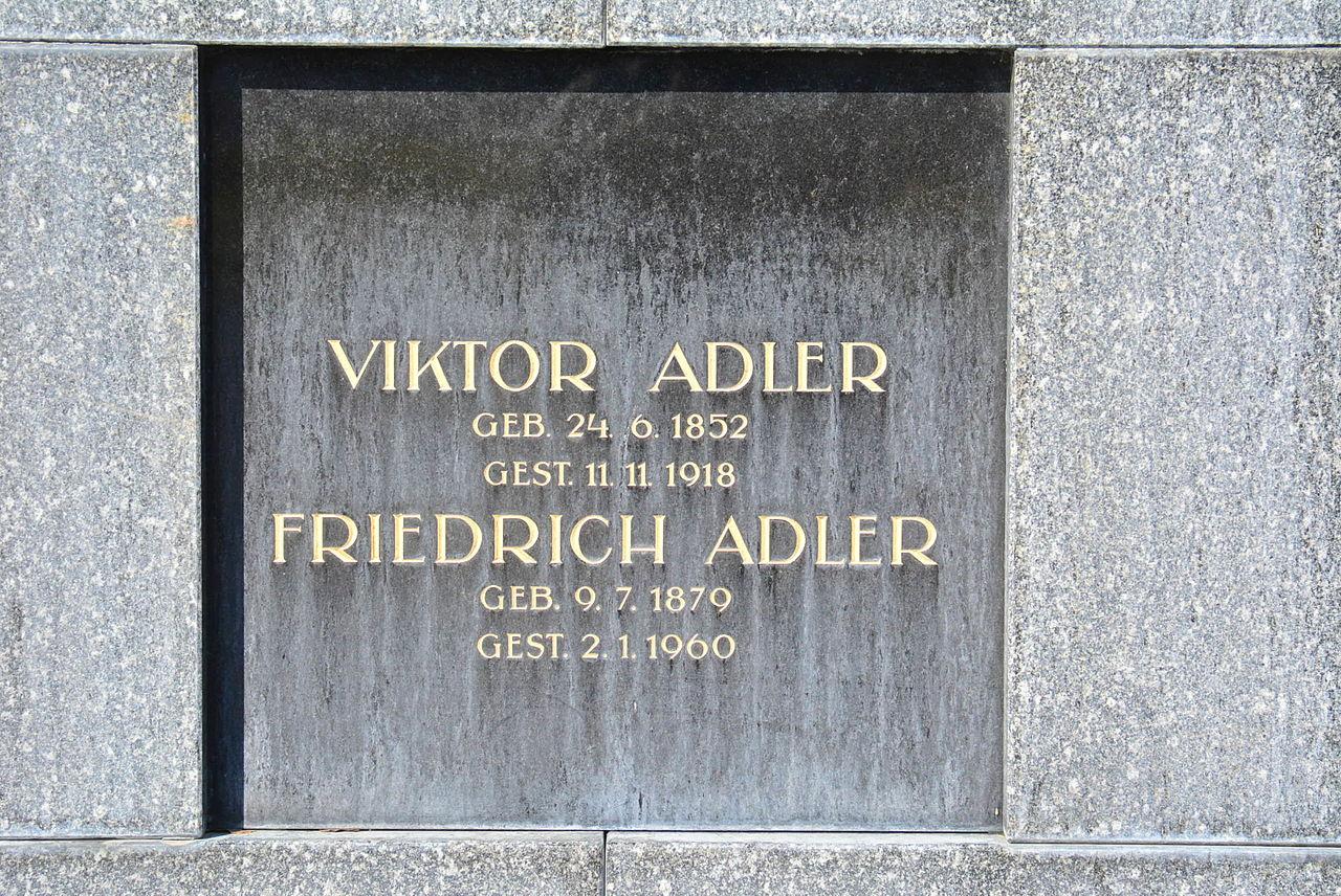 Vídeňský hřbitov Simmering, místo posledního odpočinku Viktora Adlera a jeho syna Friedricha (Bedřicha) Adlera