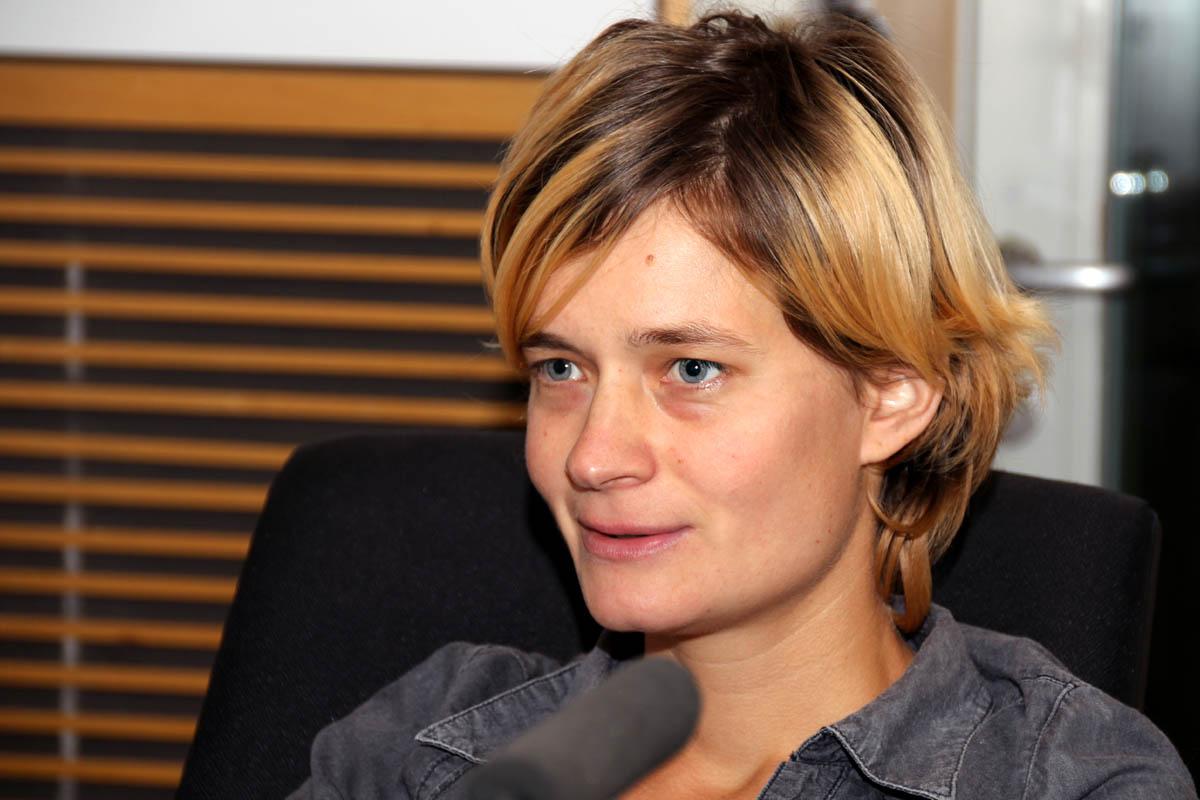 Spisovatelka Petra Hůlová byla hostem Radiožurnálu