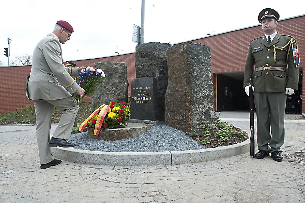 Slavnostní odhalení památníku štábního kapitána Václava Morávka, Petr Pavel