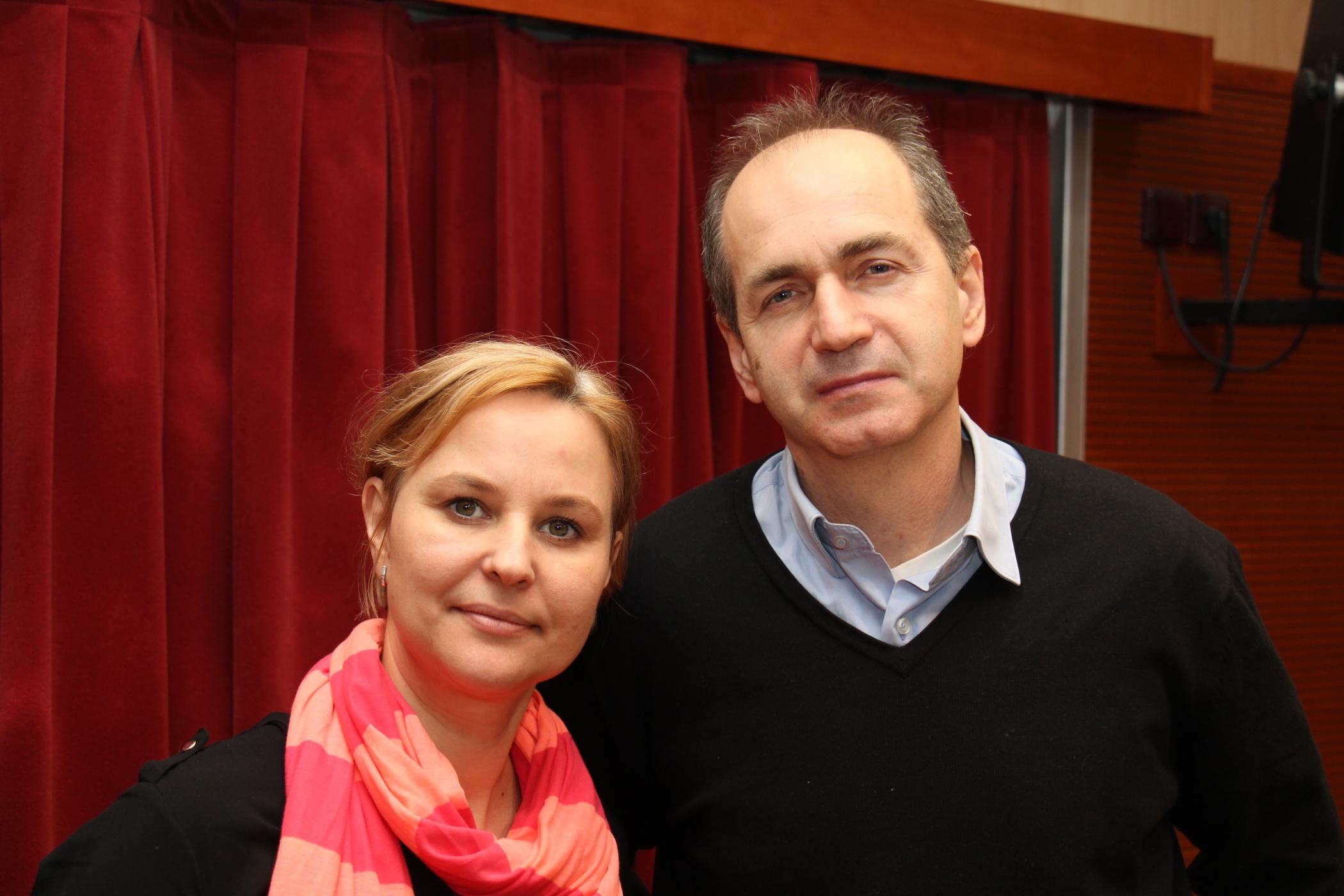 Jan Šmíd s moderátorkou Tamarou Peckovou