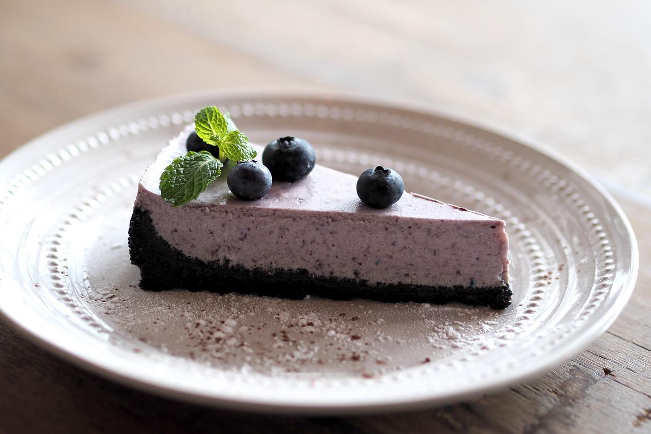 Borůvky, lesní ovoce, fialová, dort borůvkový, cheesecake