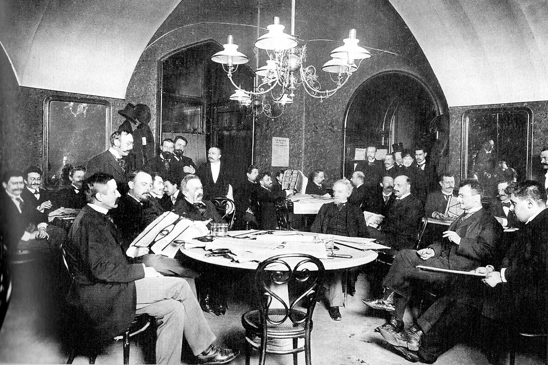 Cafe Griensteidl ve Vídni na konci 19. století
