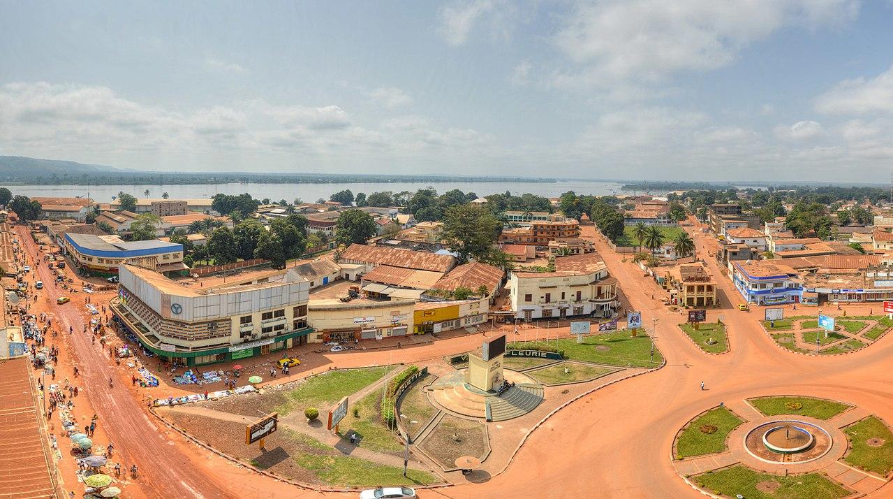 Bangui, hlavní město Středoafrické republiky
