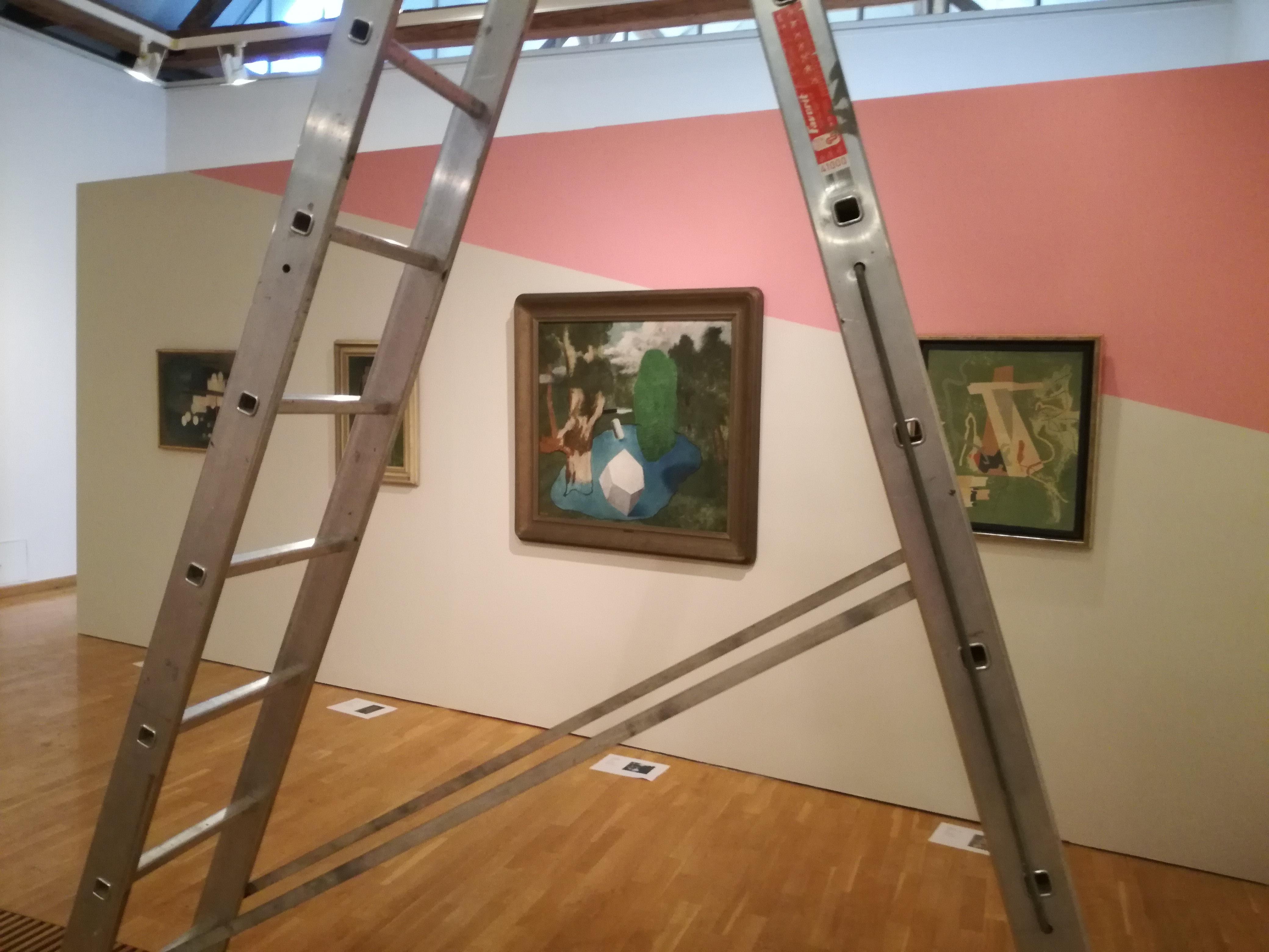 Přípravy výstavy Rozlomená doba v Muzeu umění Olomouc