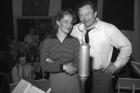 Soňa Červená a Jan Werich, při nahrávání v Gramofonových závodech, 1948