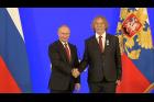 Vladimir Putin předal Jaromíru Nohavicovi v Kremlu Puškinovu medaili