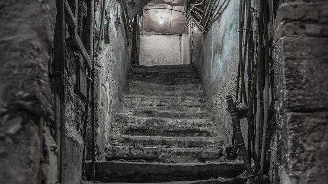 sklep, schody