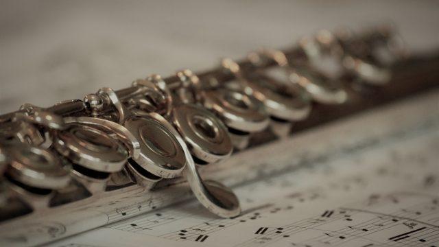 Hudba, flétna, klasický hudební nástroj, noty
