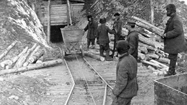 Těžba zlata v kolymském gulagu, 1934