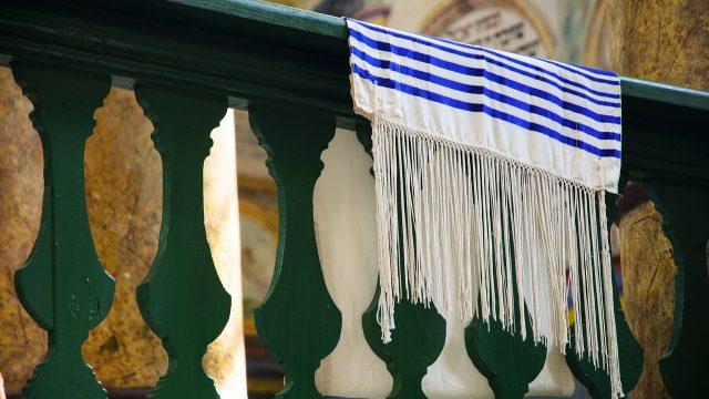 Talit, židovský motiv (ilustrační foto)