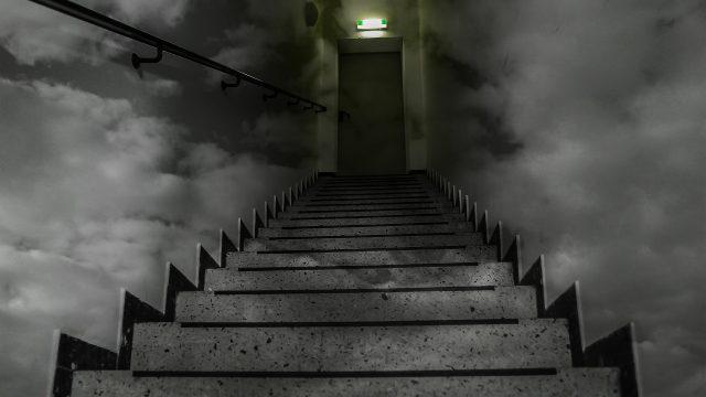 schody, horor, tma
