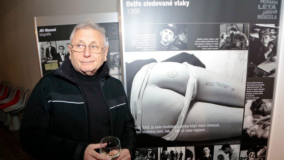 Režisér Jiří Menzel zahájil 6.12.2016 výstavu k výročí 50. let od premiéry filmu Ostře sledované vlaky