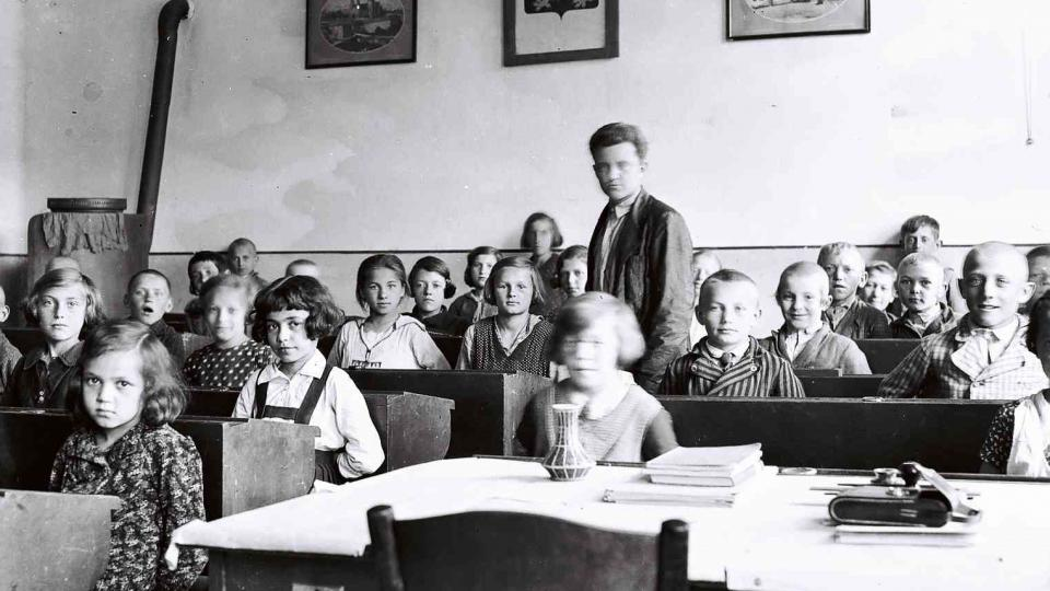 Školní třída na Podkarpatské Rusi 1936