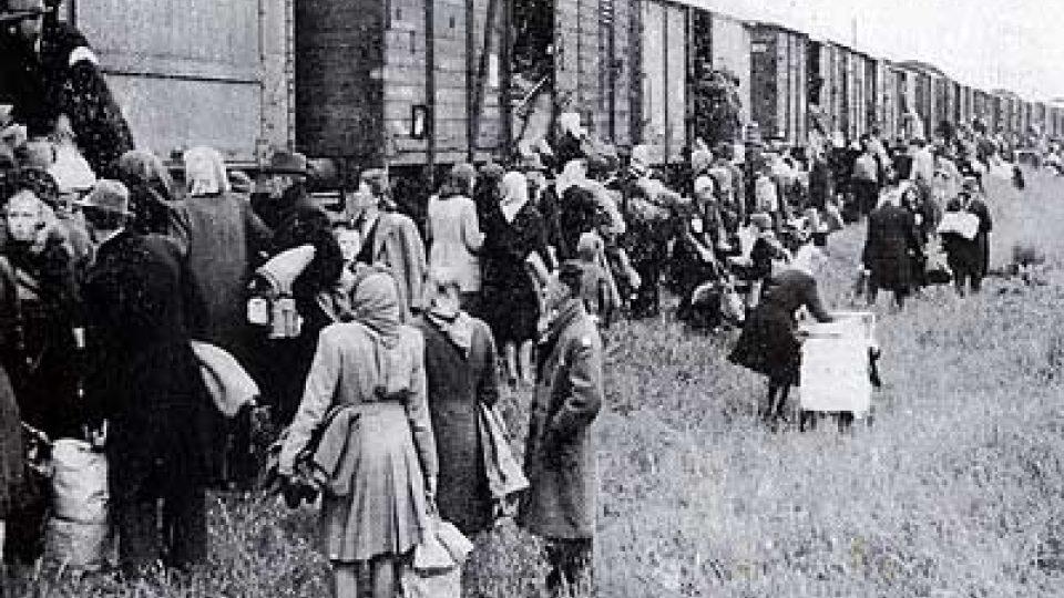 Transport Němců z Modřan
