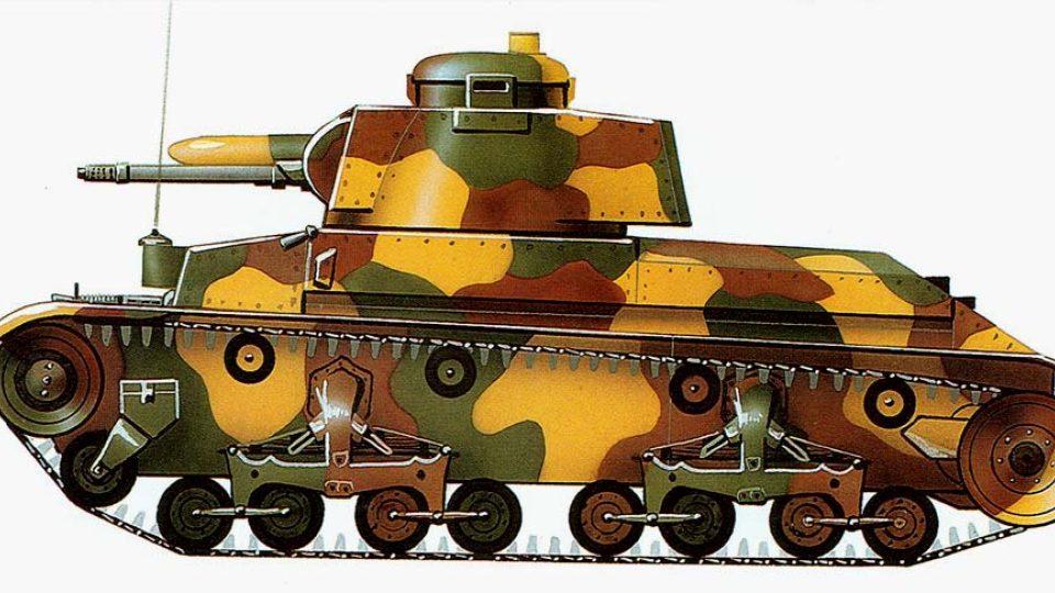 Tak by měl tank v americkém armádním Ordnance Museum Aberdeen vypadat po přemalování do československé kamufláže