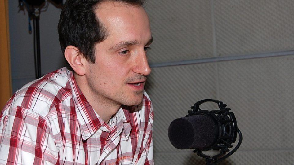 Pavel Jelínek ve studiu ČRo Leonardo