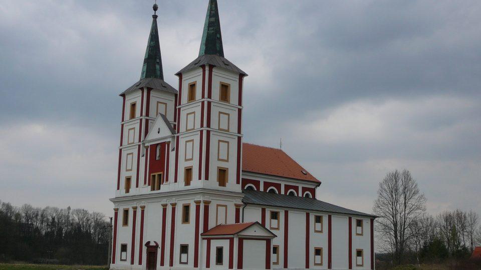 Barokní kostel Sv. Markéty postavený v místech bývalého kláštera