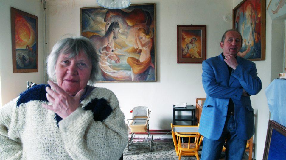 Se starostou Josefem Vodrážkou jsme také navštívili malířku a sochařku Evu Filemonovou