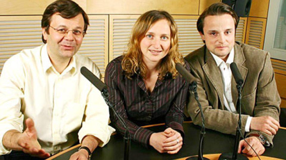 Petr Dudek, Lenka Kabrhelová a Václav Sochor