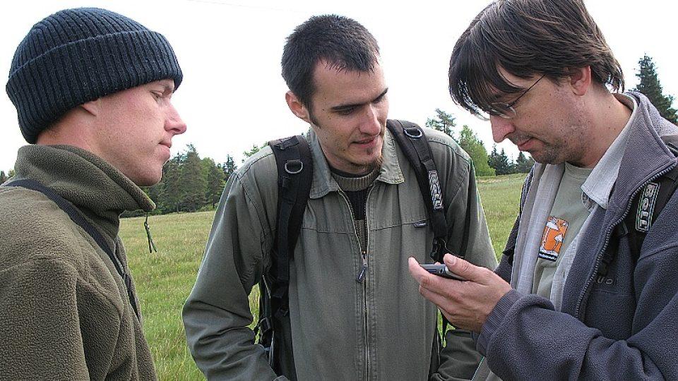 Členové výpravy (zleva): Přemysl Tájek, Petr Vít, Jan Suda
