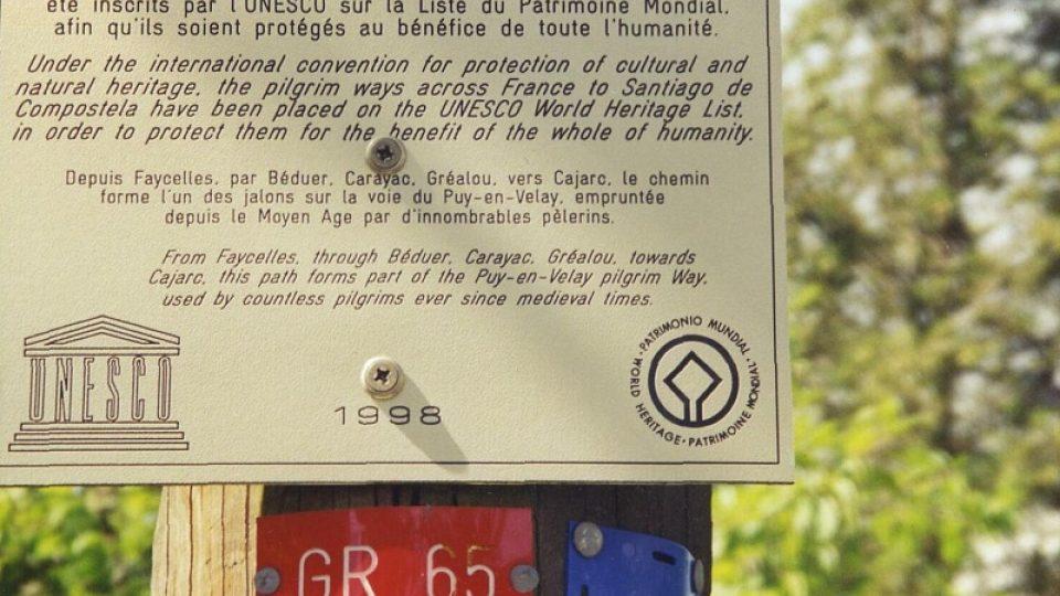 Svatojakubská cesta je na seznamu UNESCO