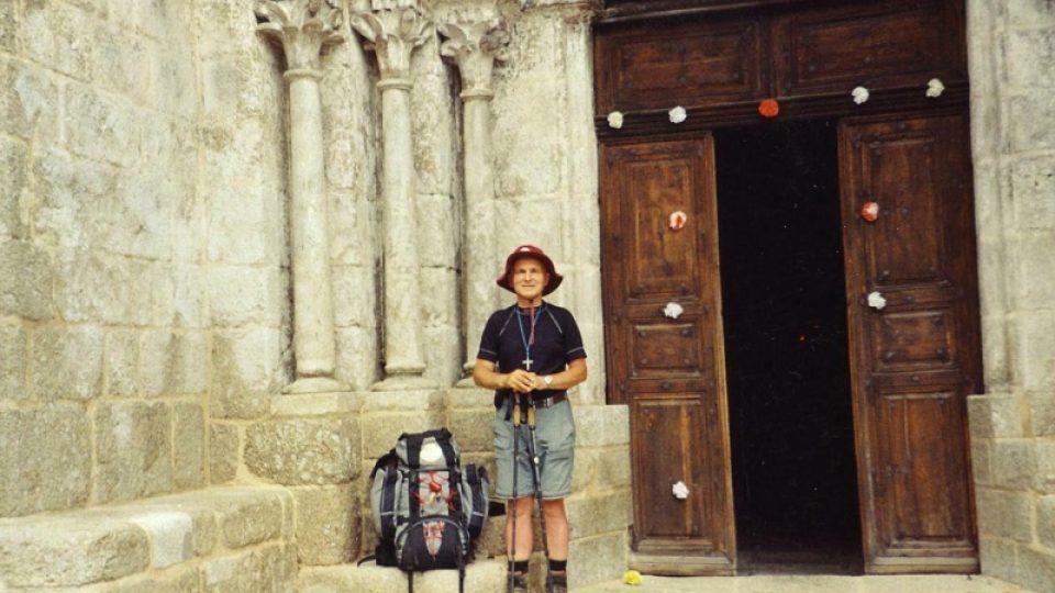 František Lízna na pouti do Santiaga de Compostela
