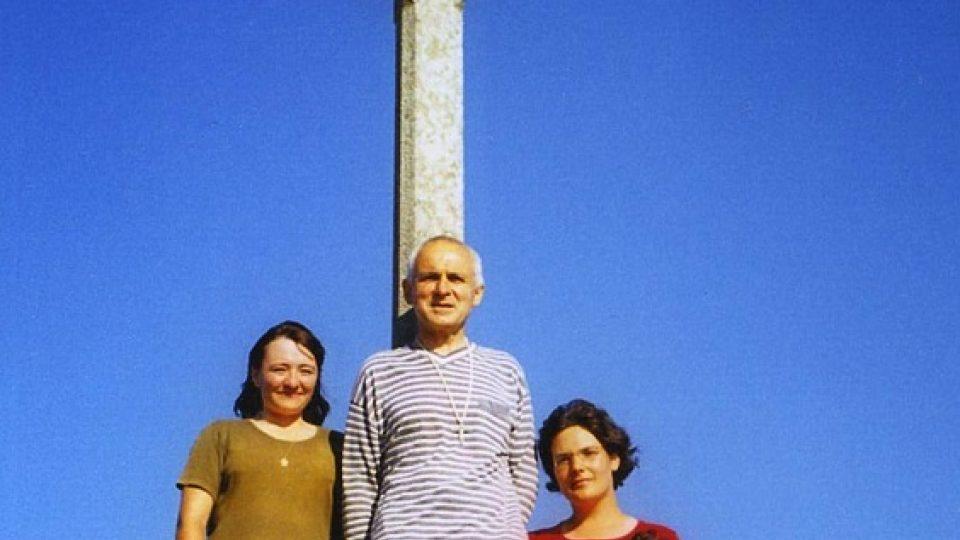 Finistera 2006. František Lízna spolu s poutnicemi