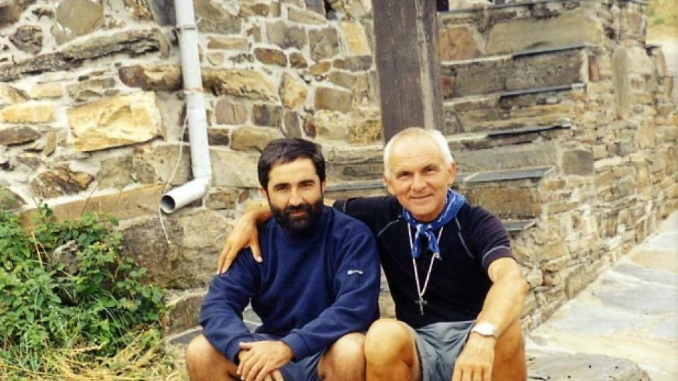 František Lízna (vpravo) a jeho spolubratr Tony, španělský univerzitní kaplan