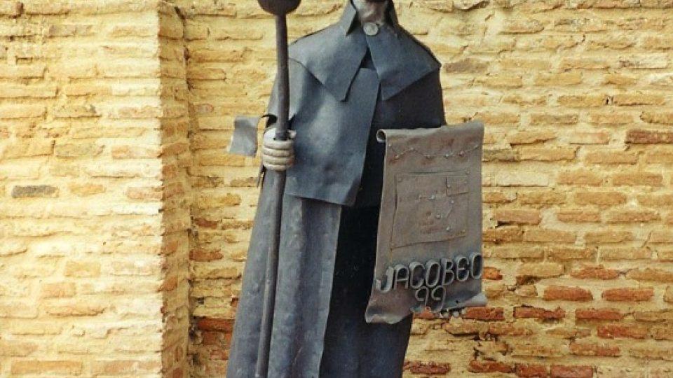 Socha na pouti do Santiaga de Compostela