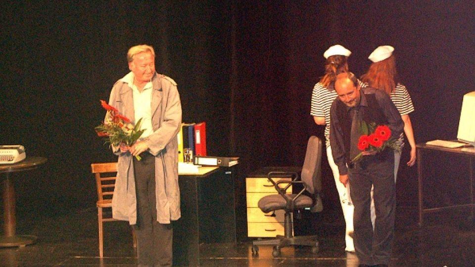 Viktor Preiss a Jiří Lábus v Divadle na Zámku
