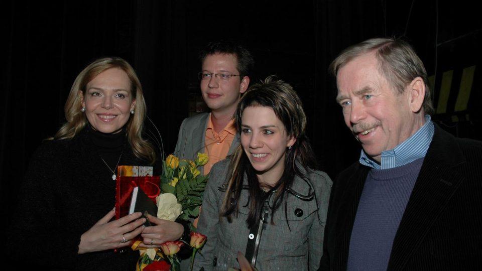 manželé Havlovi, Aneta Langerová a Aleš Cibulka