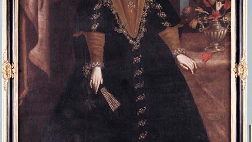 Neznámý malíř: Kateřina Isabela z Harrachu (Krajské muzeum Karlovarského kraje v Chebu)