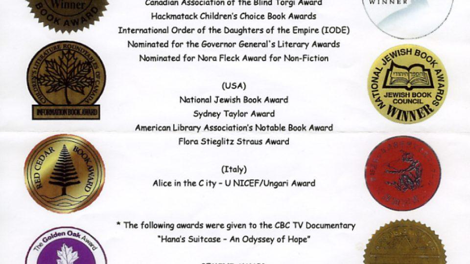 Kniha Hanin kufřík získala ocenění řady knihkupců, nakladatelů a knihovníků