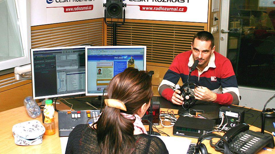 Krátce před vysíláním