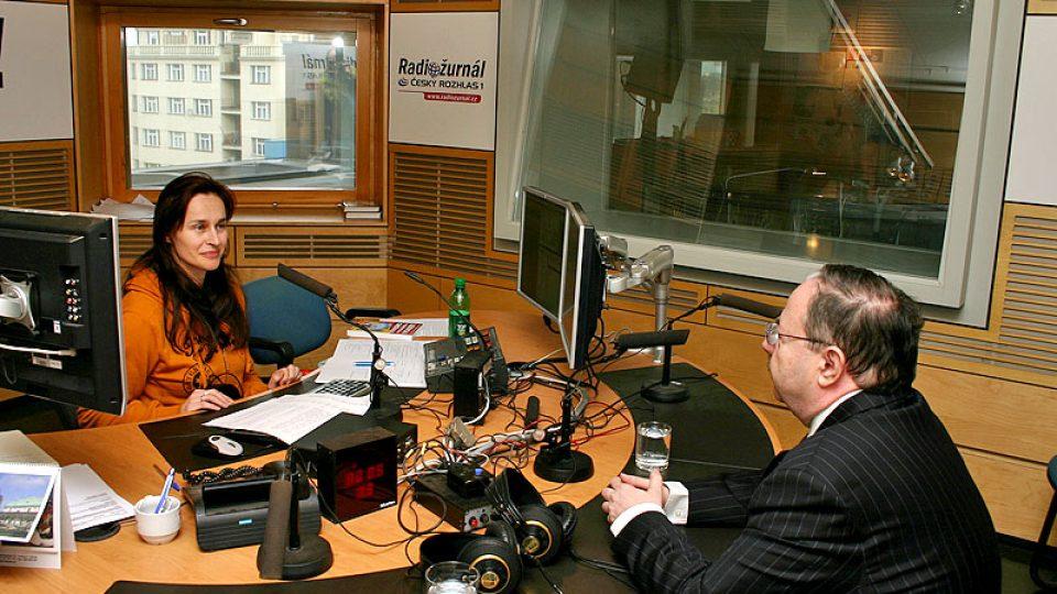 Vysílání Dopoledního Radiožurnálu