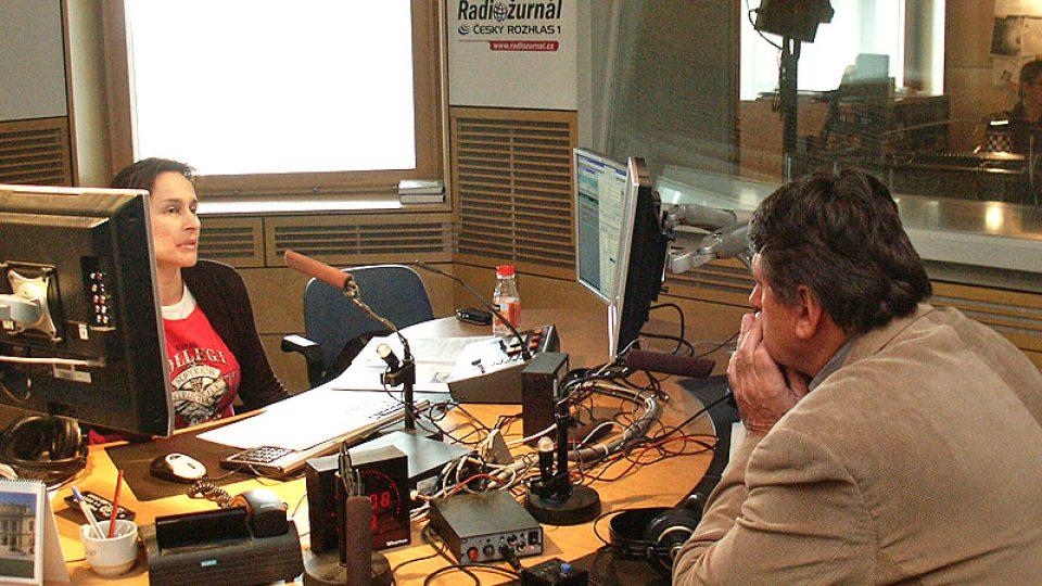 Miloš Kvapil při rozhovoru