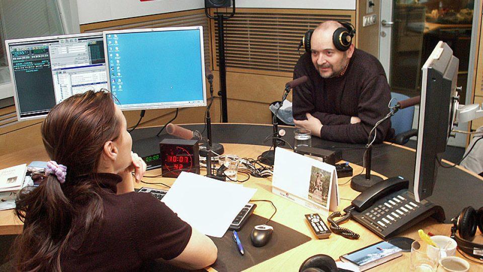 Jan Burian při rozhovoru