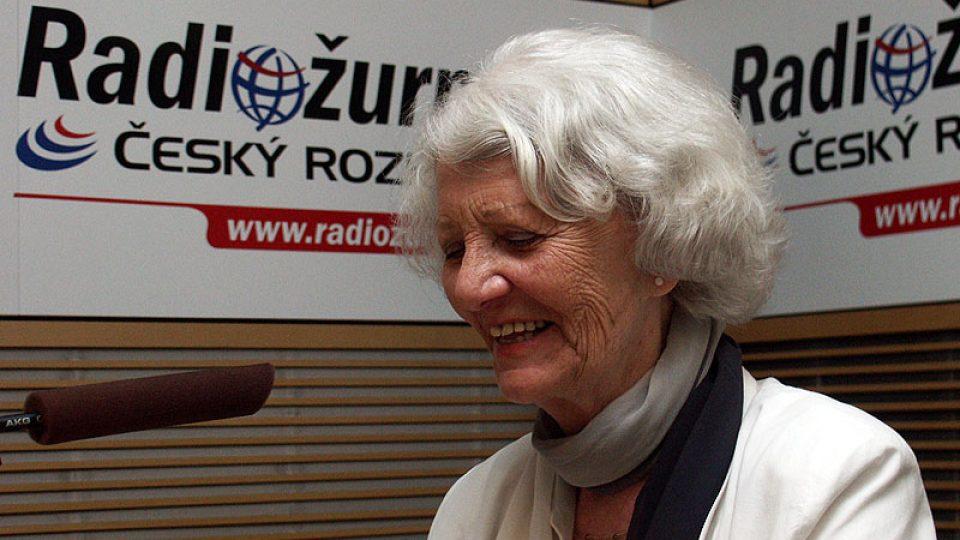 Rozhlasová a televizní hlasatelka Heda Čechová