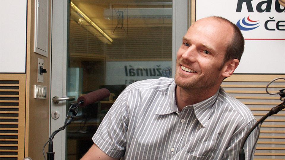 Rozhlasový reportér Petr Vavruška mluví
