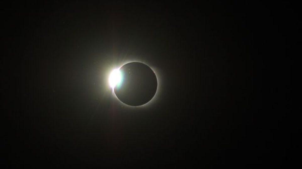 Zatmění Slunce nad ruským Novosibirskem