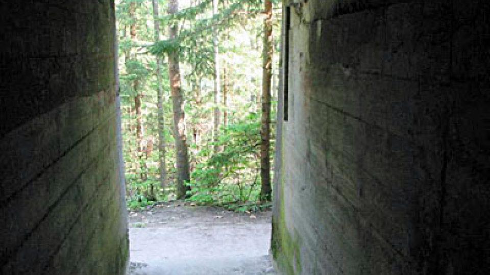 Pohled z bunkru ven