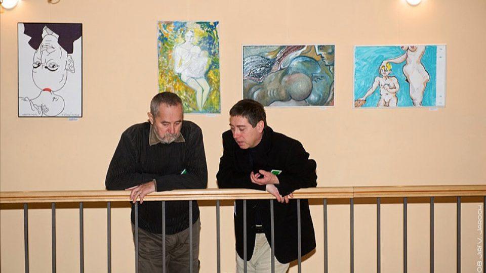 """výstava """"Výtvarníci proti týrání žen a dětí"""""""