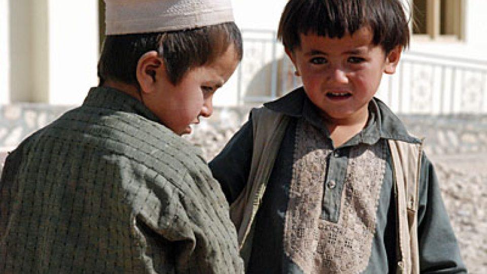 Děti z afghánské vesnice