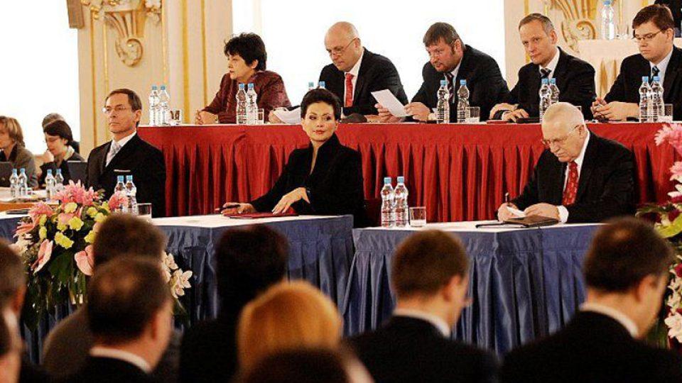 Jan Švejnar, Jana Bobošíková a Václav Klaus