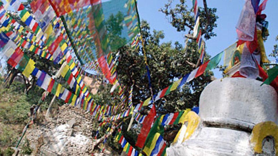Tibetská svatyně v Nepálu