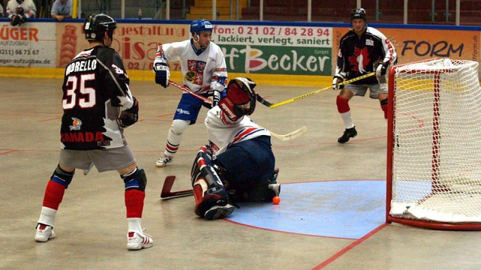 proti Česku se na hokejbalovém šampionátu