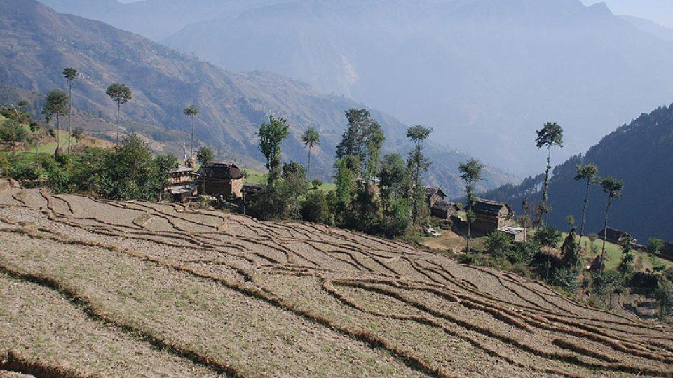 nepálská vesnice Khandadéví