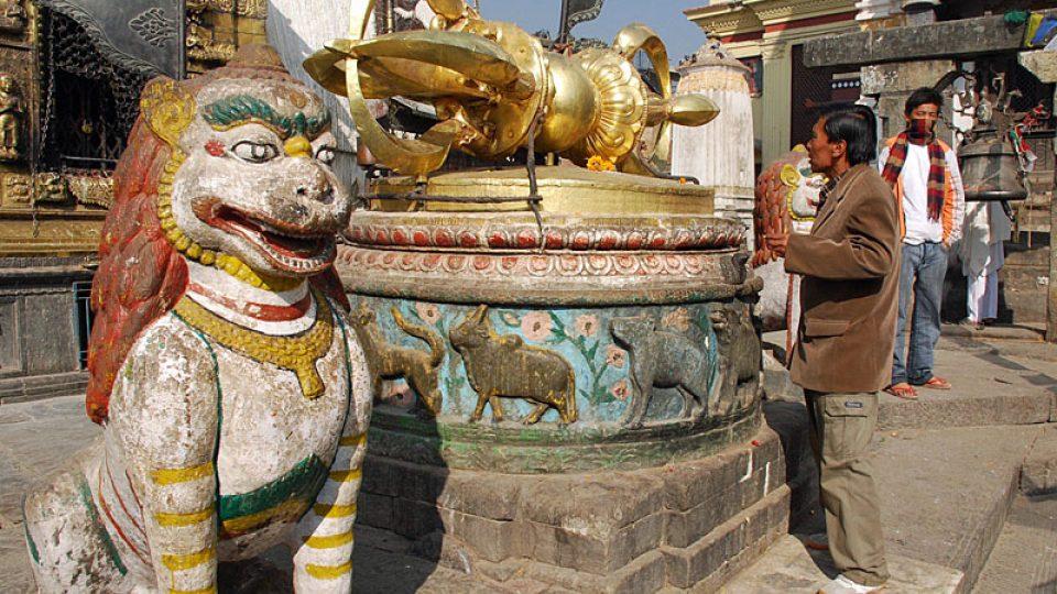 Náboženské motivy v Káthmándu